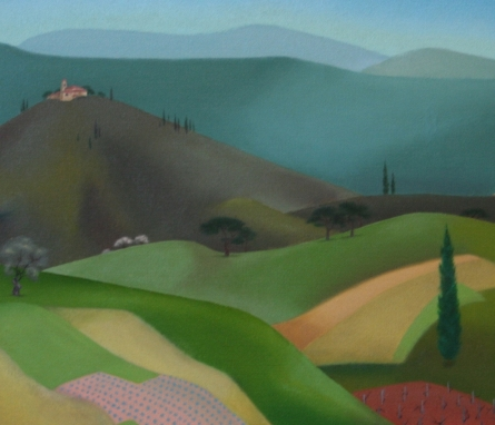 Virginia Berresford, Tuscany (detail)
