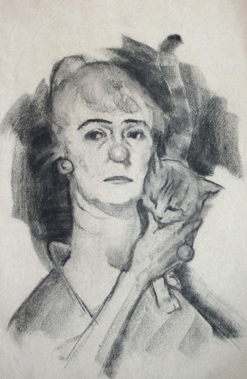 Belcher, Hilda-Old Sour Puss (charcoal) web
