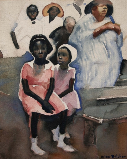 Hilda Belcher, Two Girls in a Savannah Church