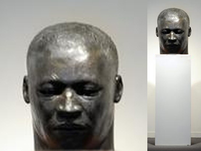 Wilson, John- Maquette MLK Buffalo- head and head on ped