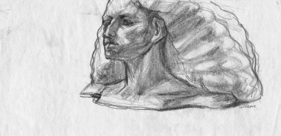 Study for Bust of Gabrielle 550